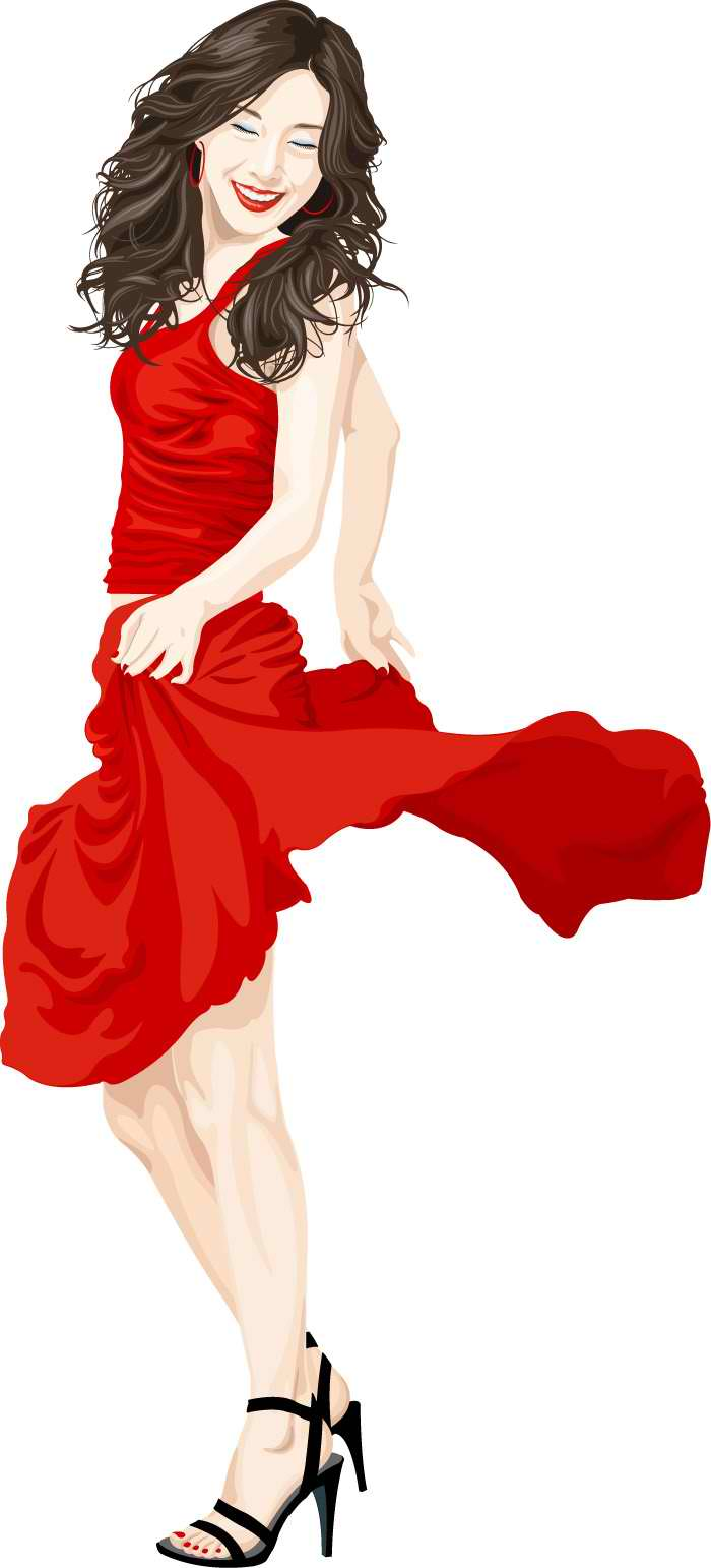 Woman in Red Mascot