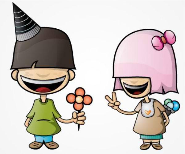 Emo Couple Mascot