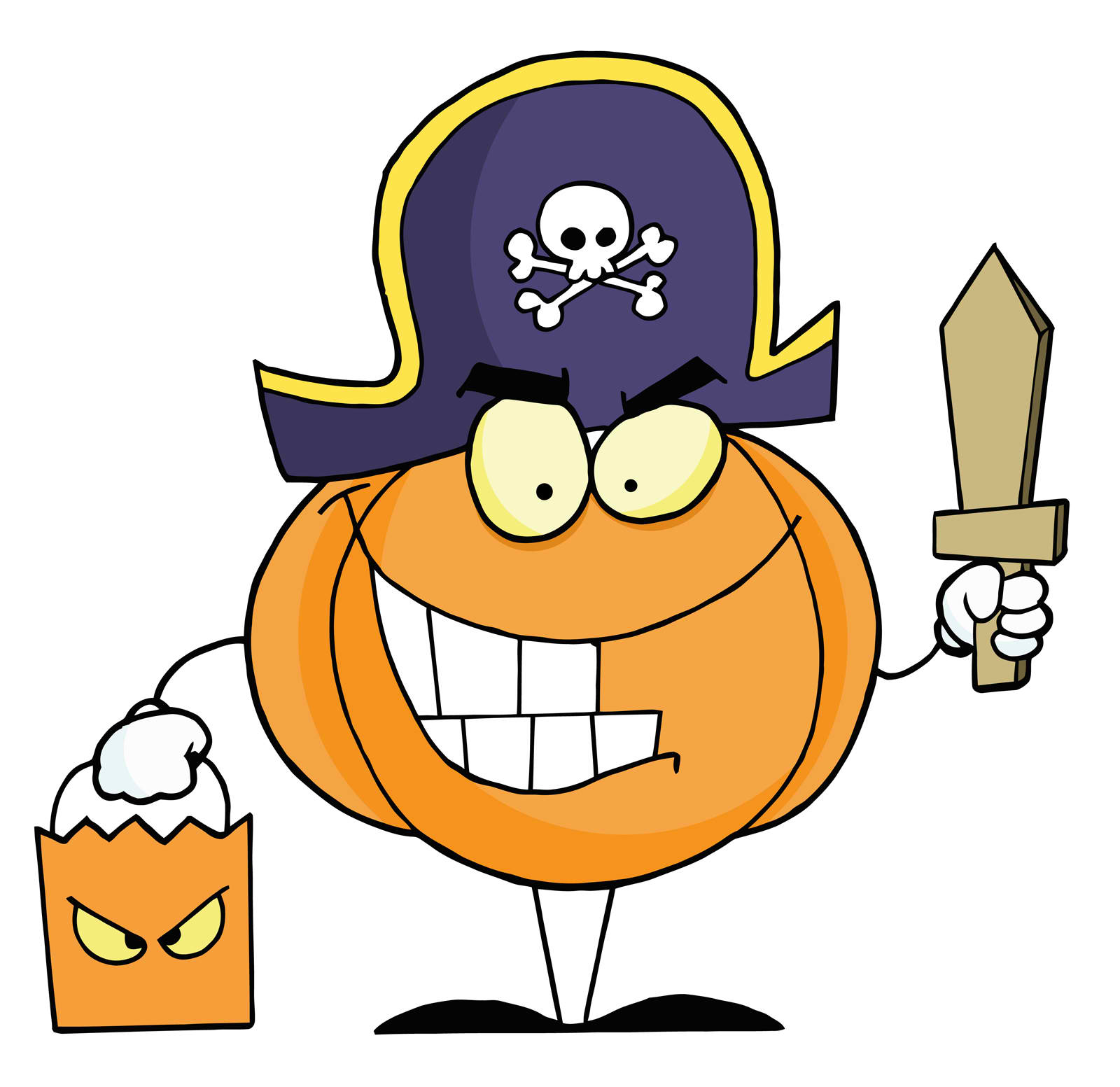 Pumpkin Pirate Mascot