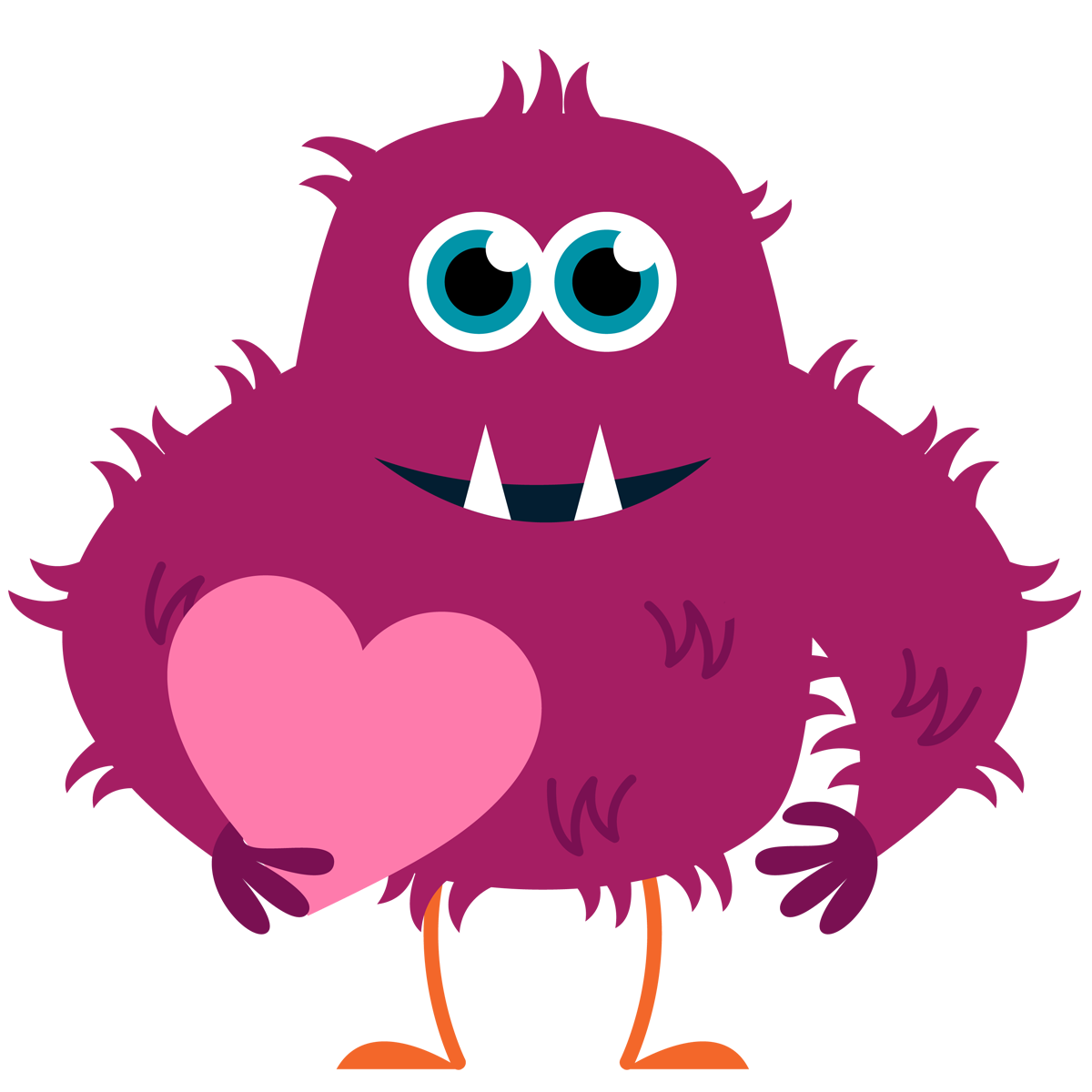 Inlove Monster Mascot