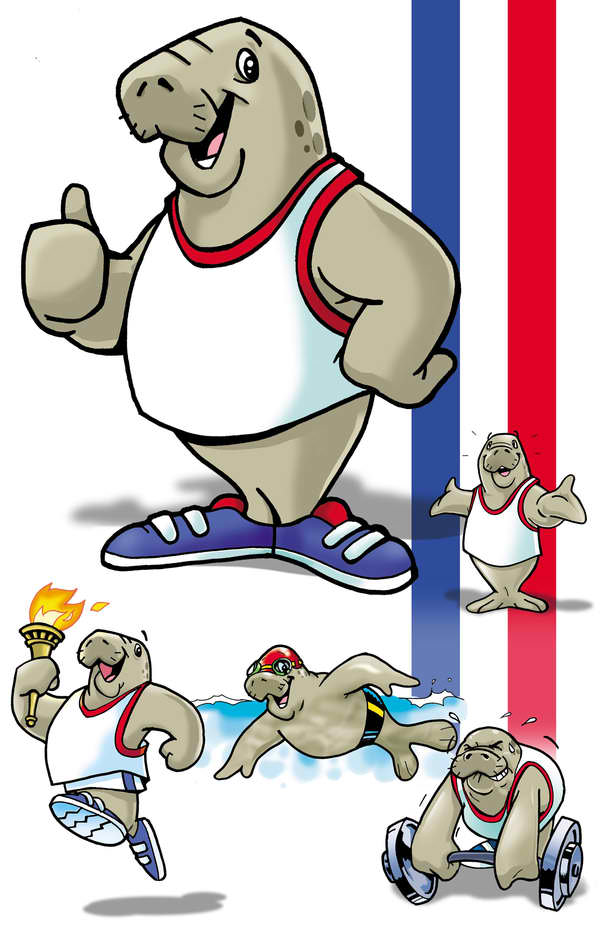 Sporty Seal Mascot