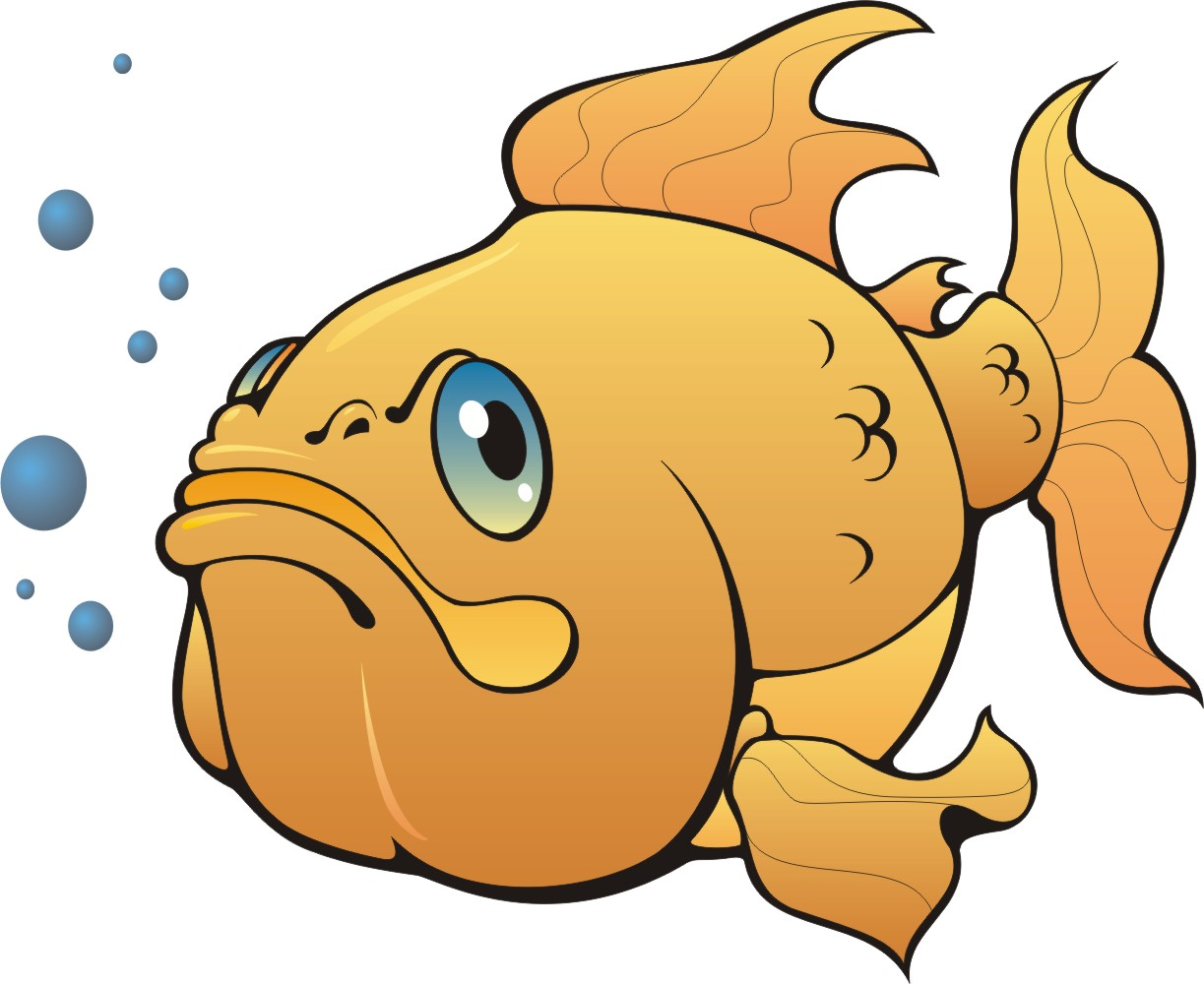 Big Gold Fish Mascot