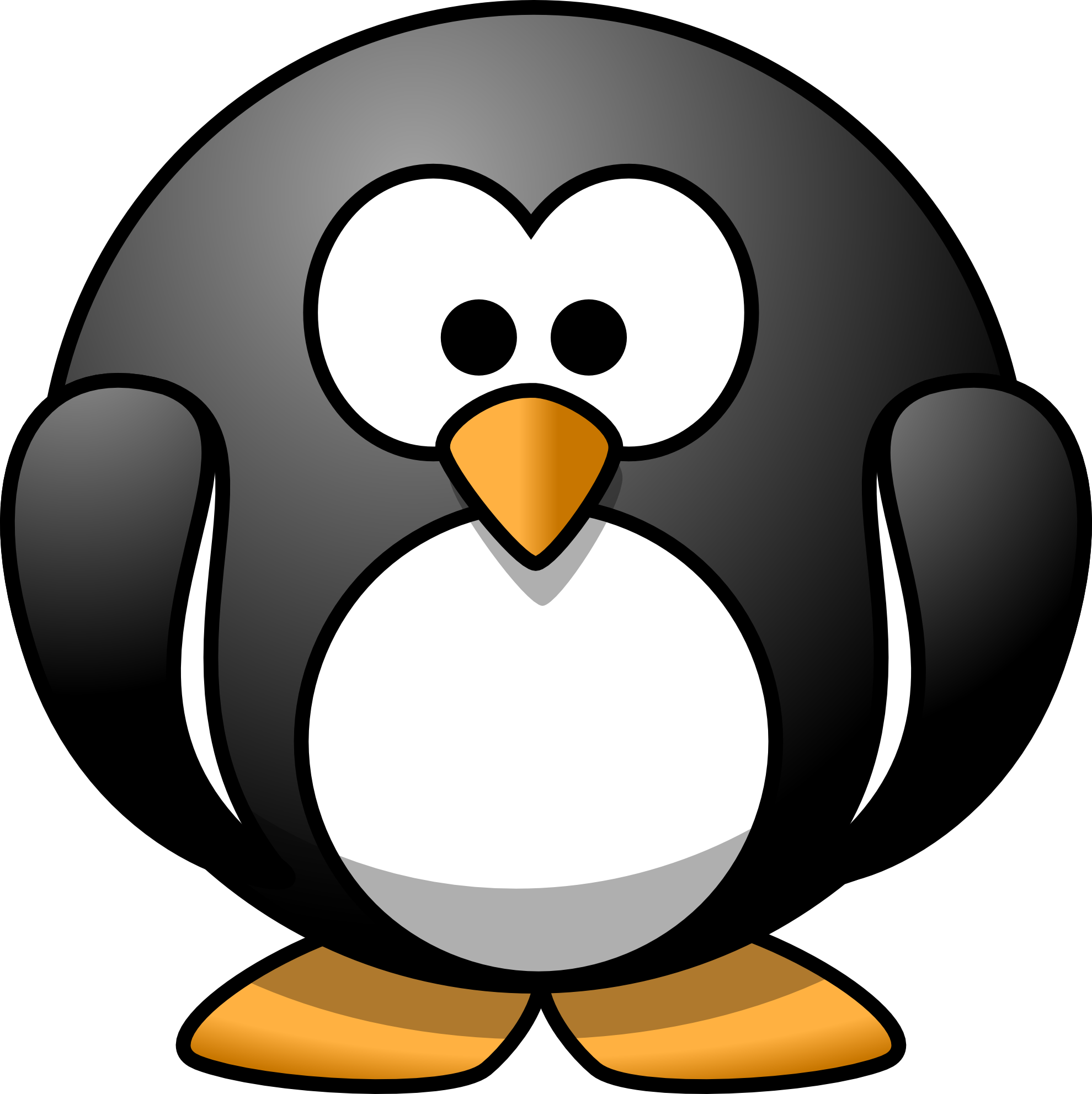 Cute penguins cute mighty pictures - Round Penguin Mascot