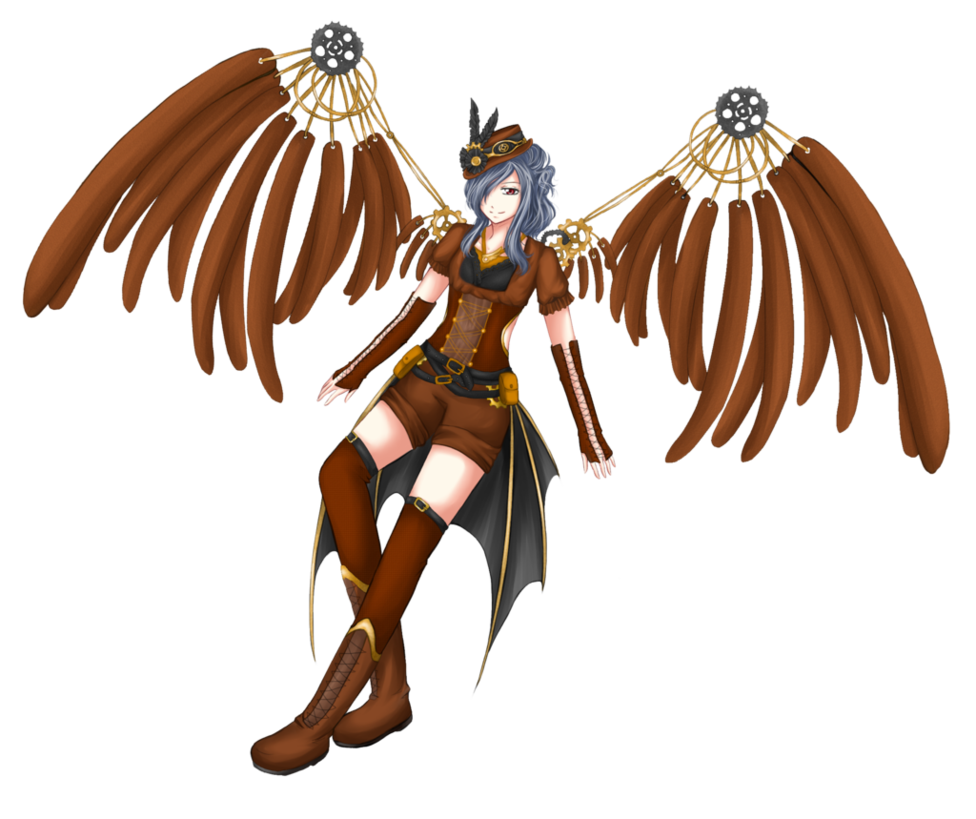 Winged Female Warrior Mascot