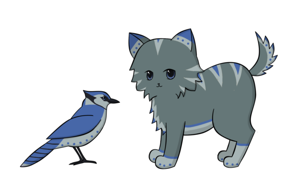 Cat and Bird Mascot