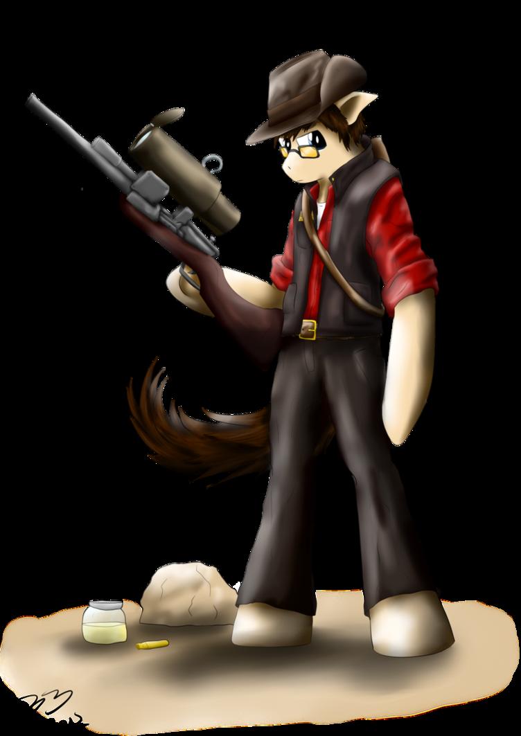 Sniper Pony Mascot