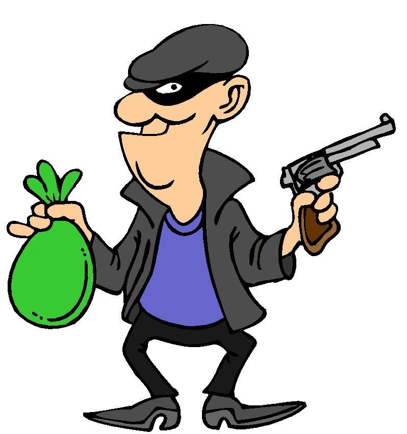 Male Robber Mascot