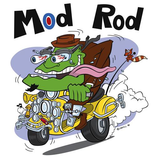 Crazy Rider Mascot