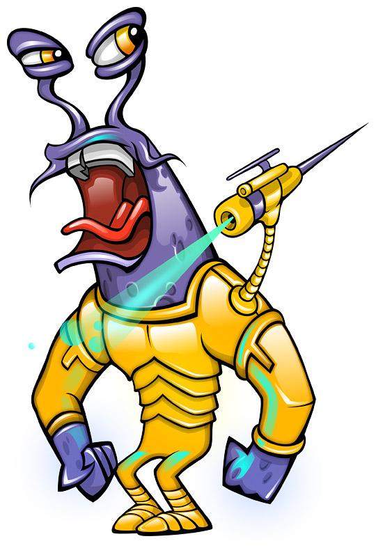 Army Alien Mascot