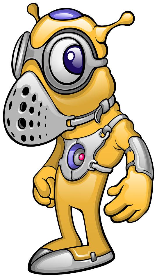 Weird Yellow Alien Mascot