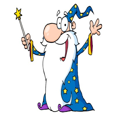 Happy Wizard Mascot