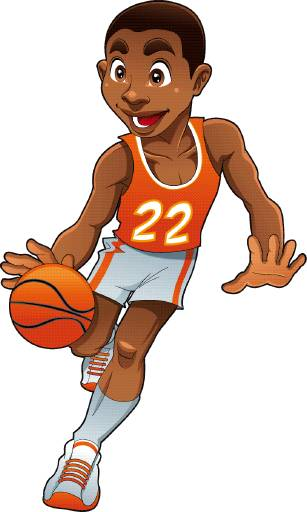 Basketball Player Mascot