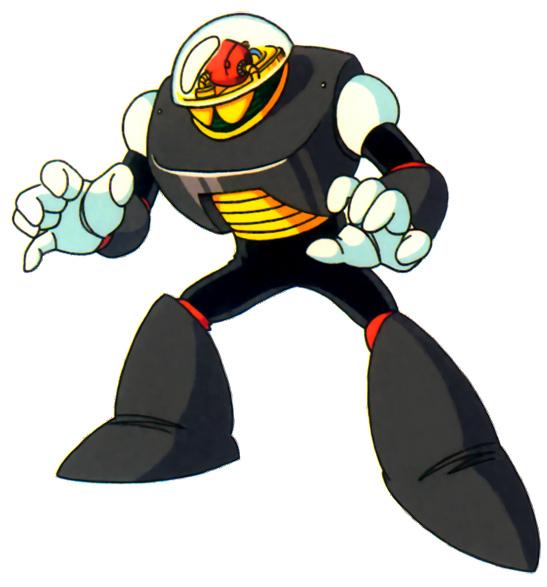 Evil Dark Robot Mascot