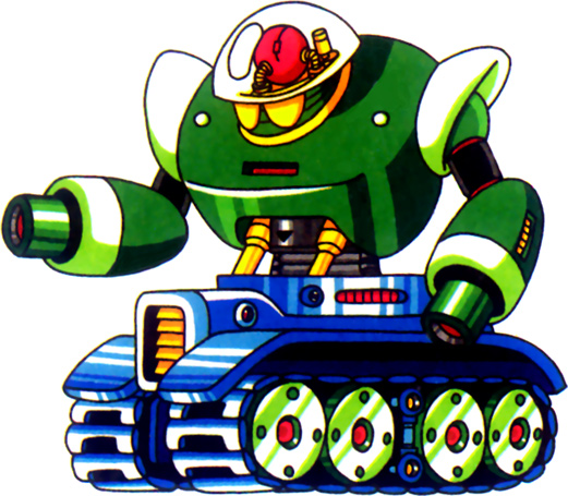 Evil Rolling Robot Mascot