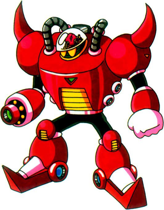 Red Evil Robot Mascot