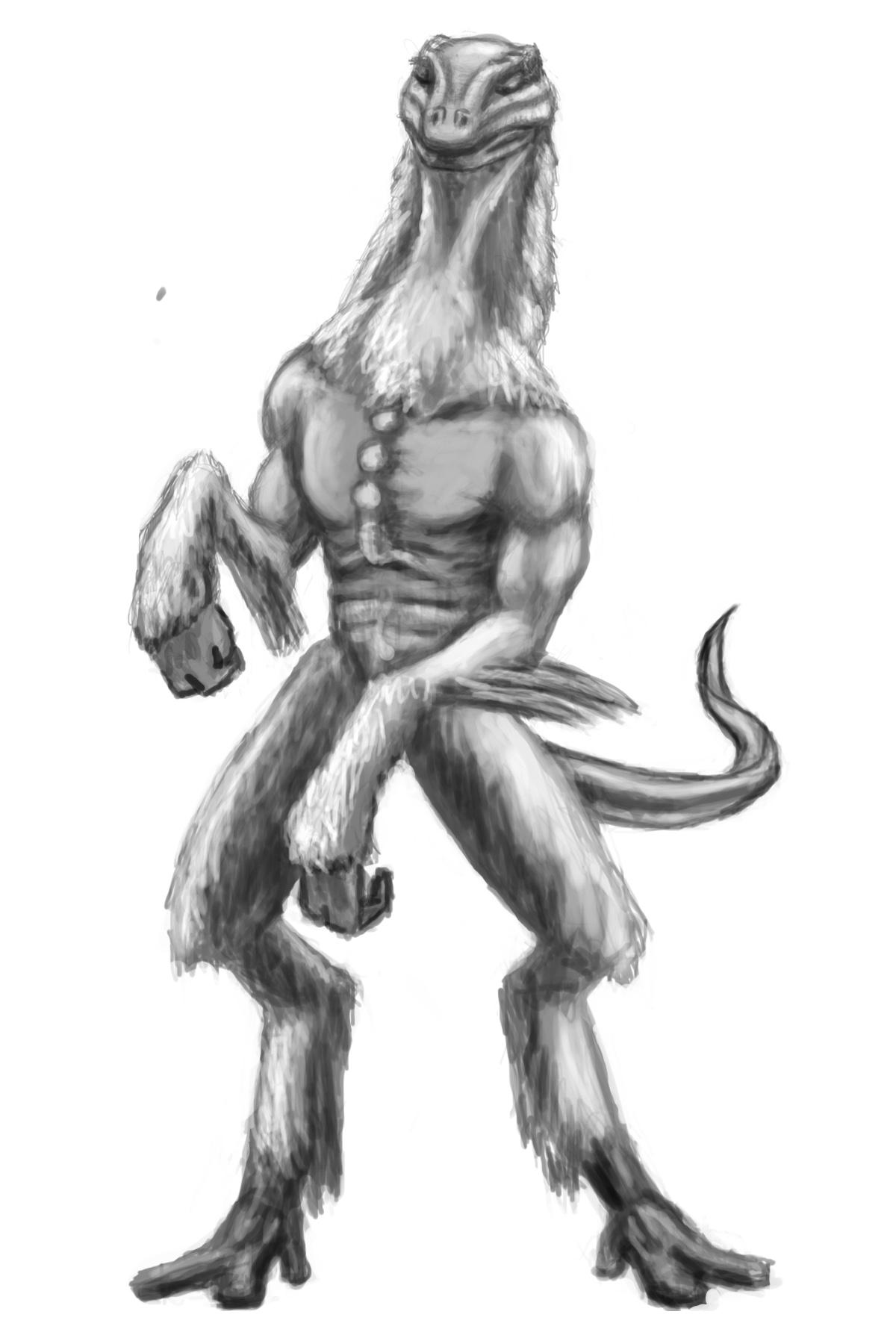 Reptilian Alien Mascot