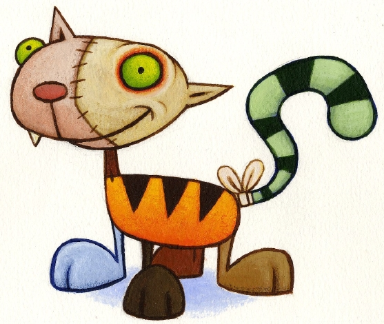 Frankenstein Cat Mascot