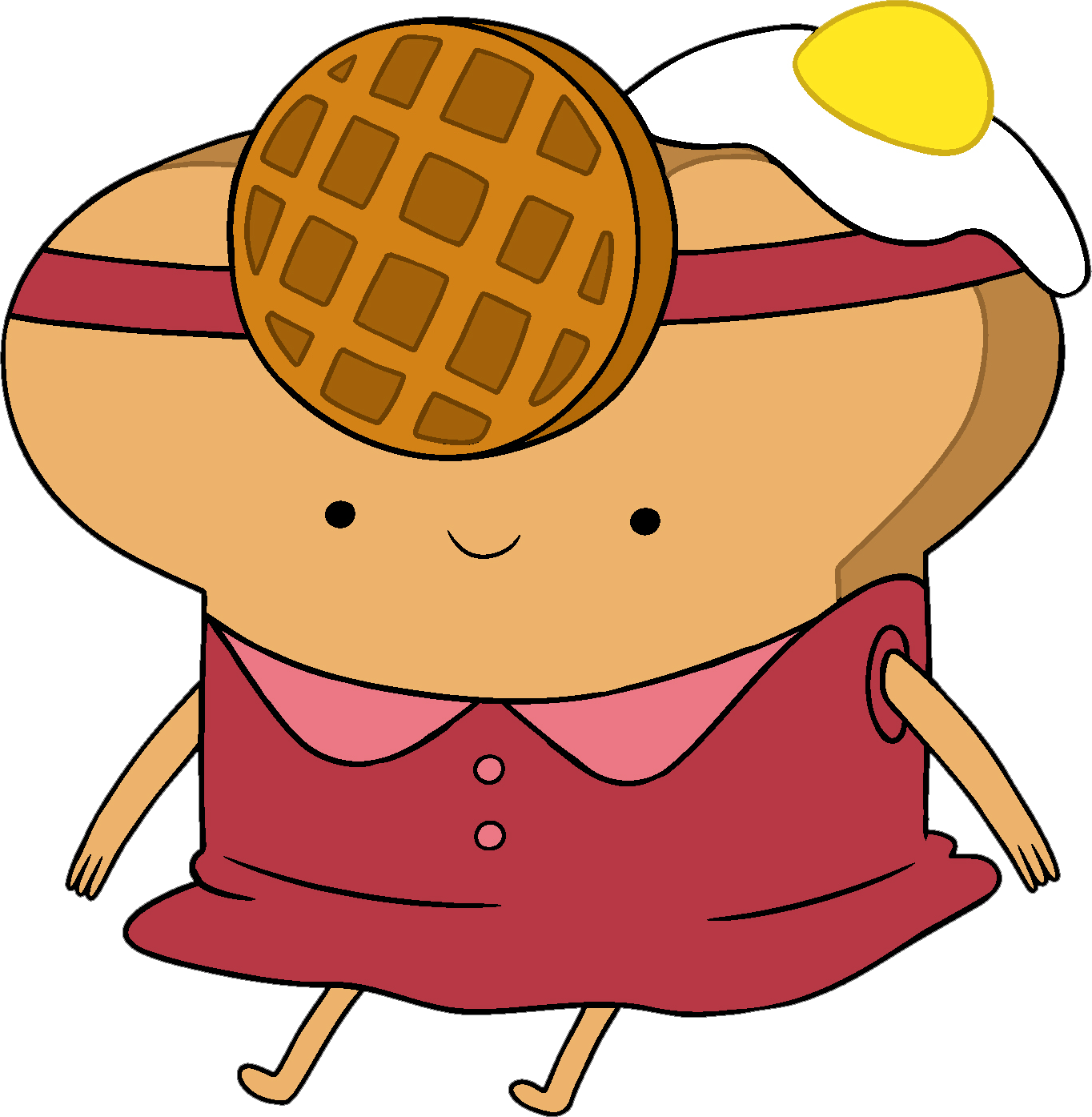 Breakfast Person Mascot