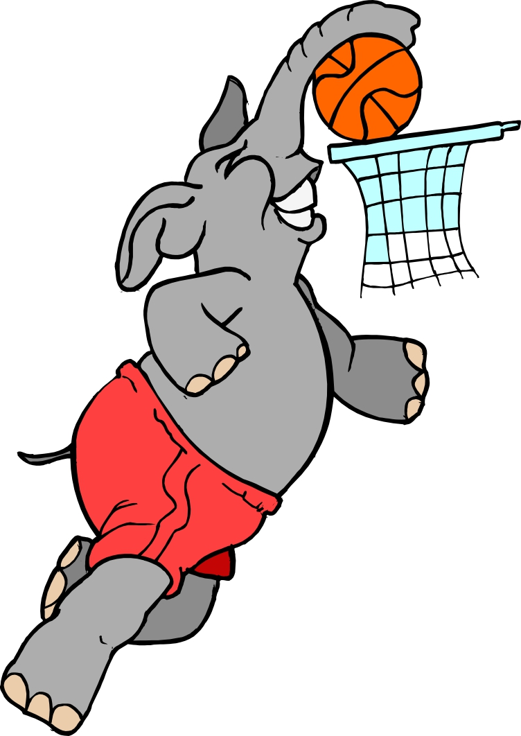 Basketball Elephant Mascot