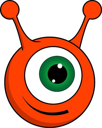 Cute Ball Alien Mascot