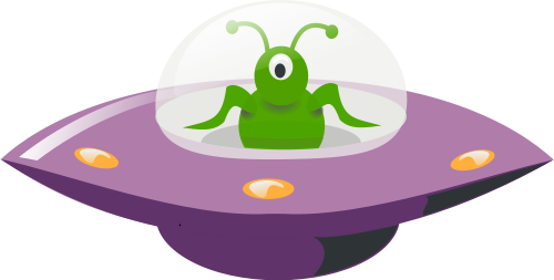 Flying UFO Mascot