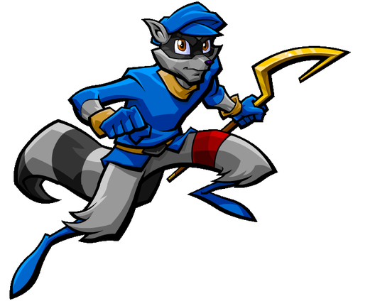 Blue Thief Fox Mascot