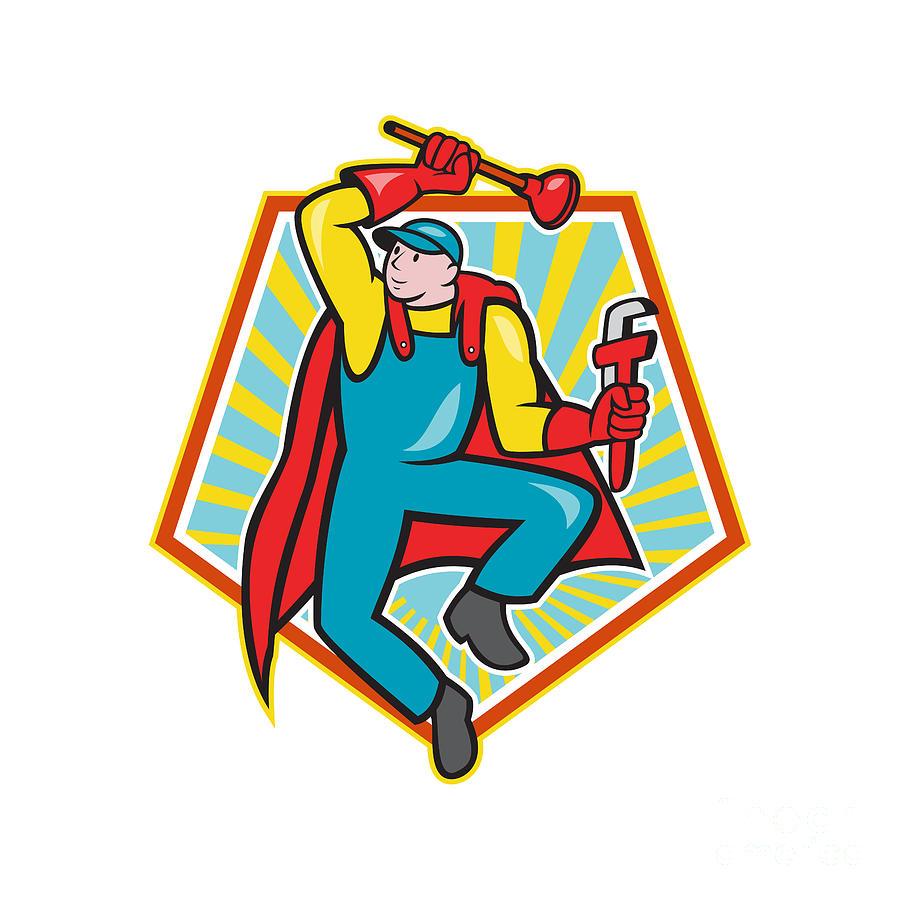 Super Plumber Mascot