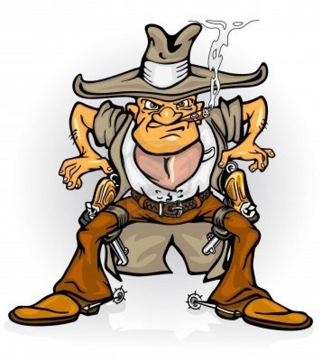 Wild Cowboy Mascot