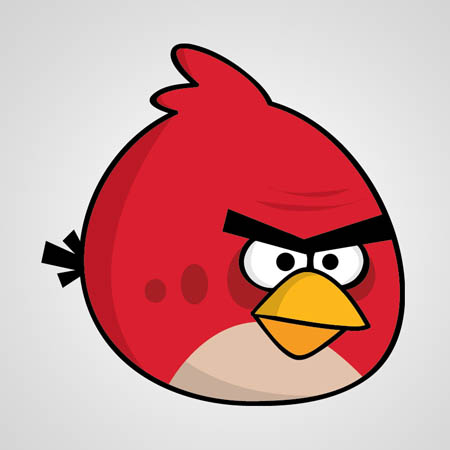 Angry Bird Red Mascot