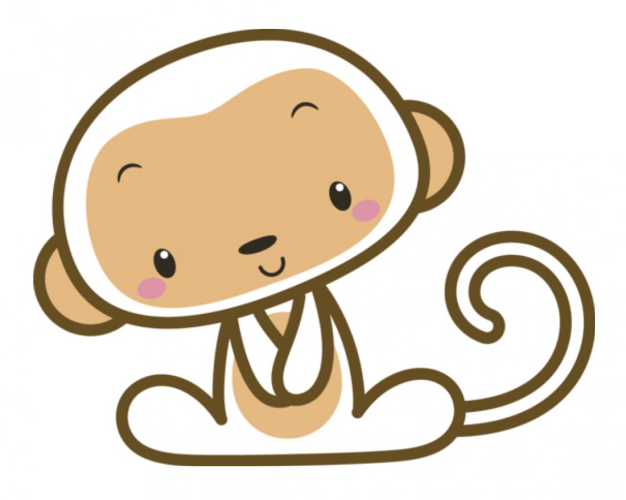 White Monkey Mascot