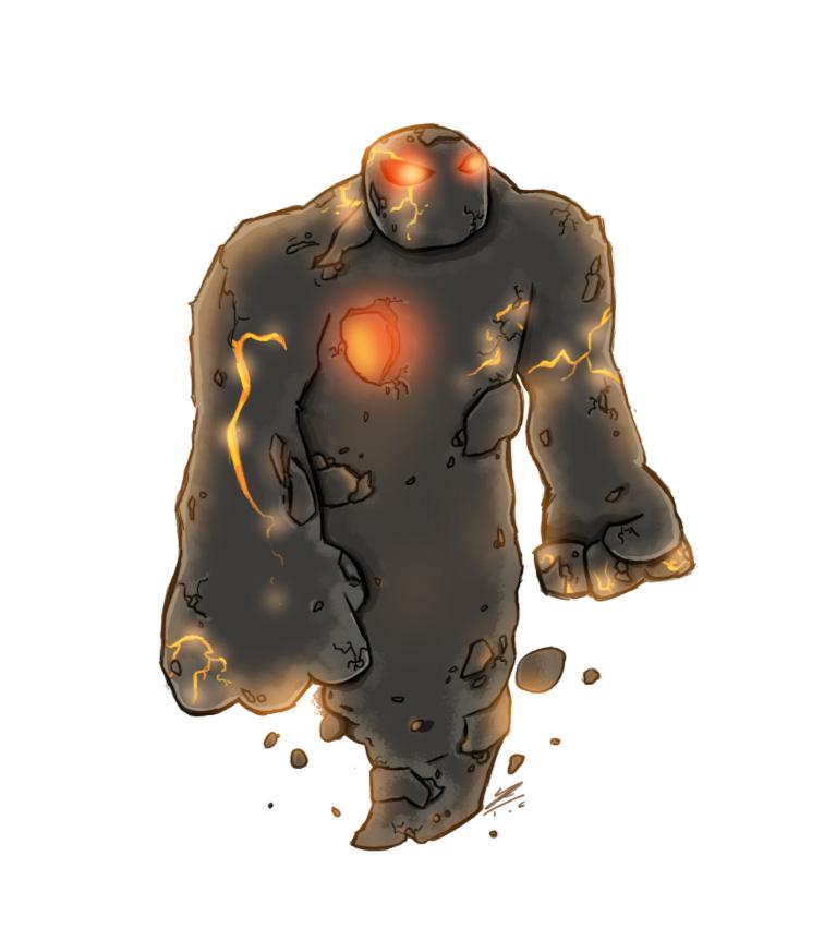 Lava Golem Mascot