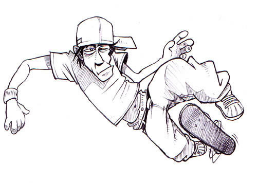 Skater Mascot