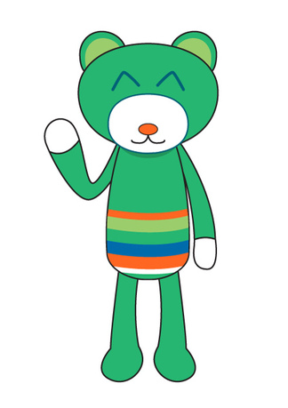 Colorful Bear Mascot