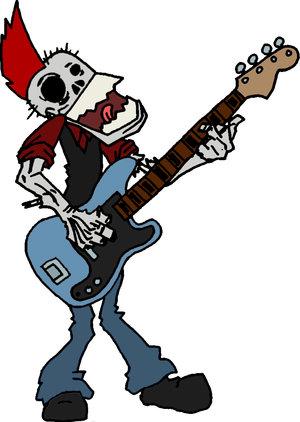 Zombie Bassist Mascot