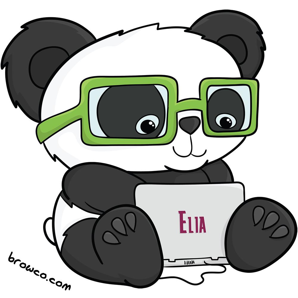 Techie Panda Mascot