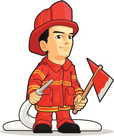 Great Firefighter Mascot