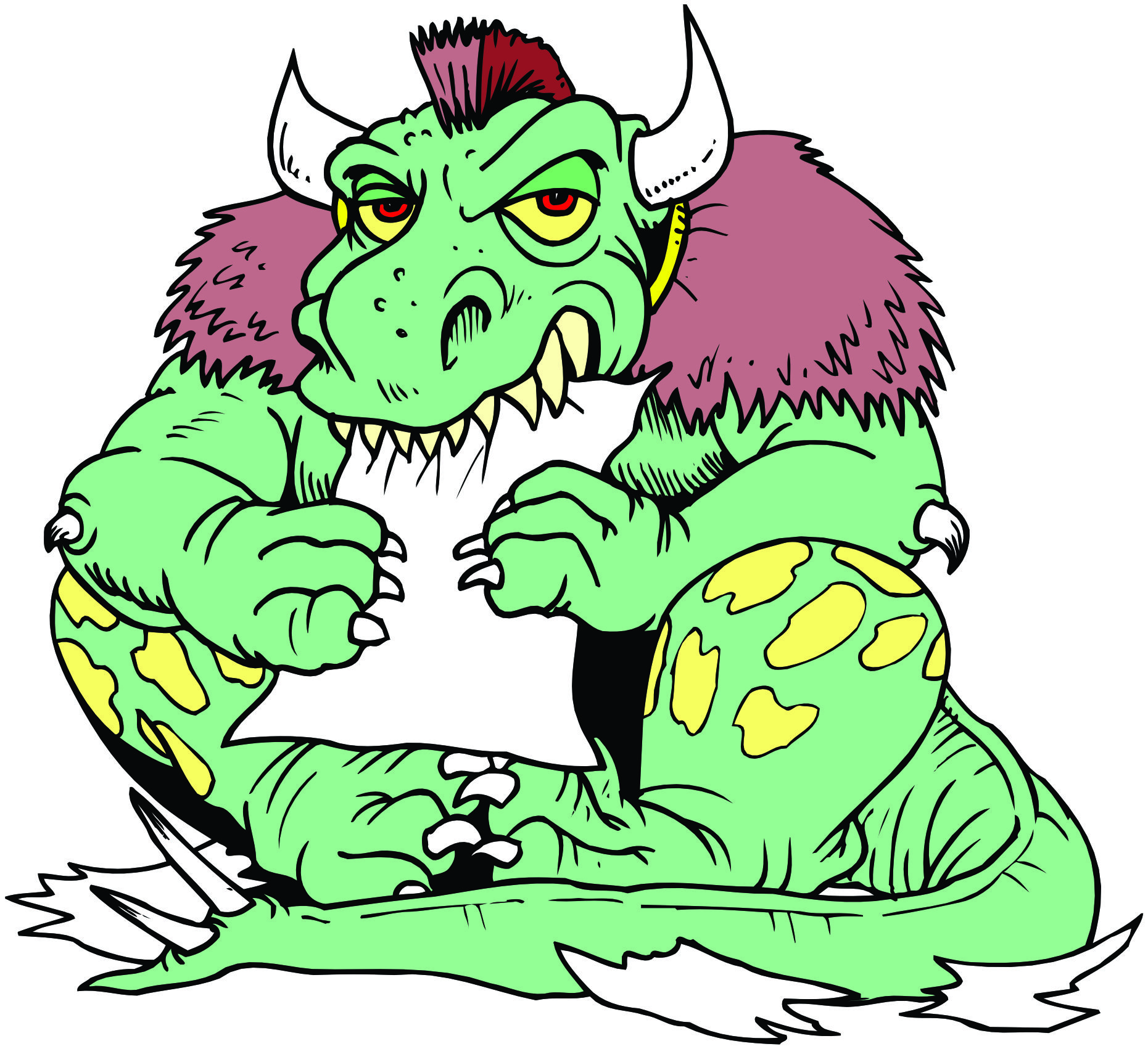 Dragon Monster Mascot