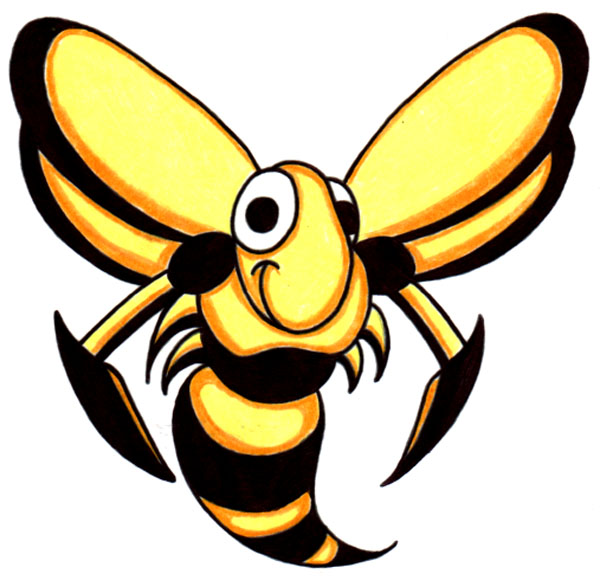 Happy Wasp Mascot
