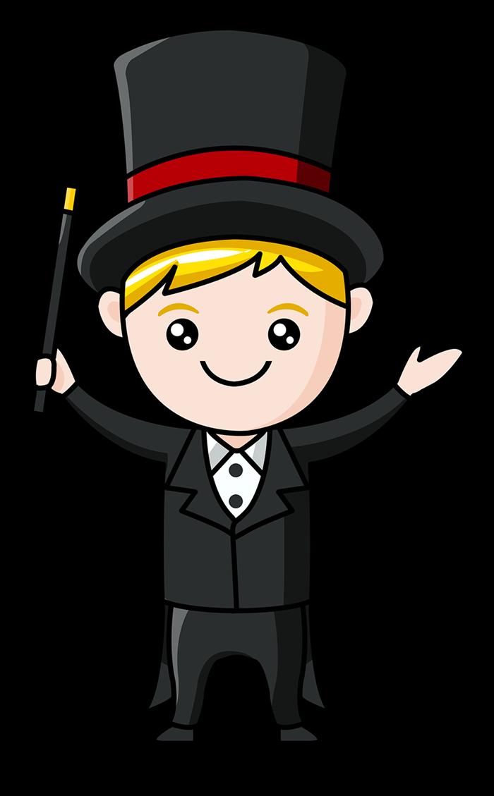 Magician Boy Mascot