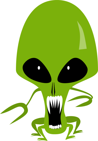 Alien Head Mascot
