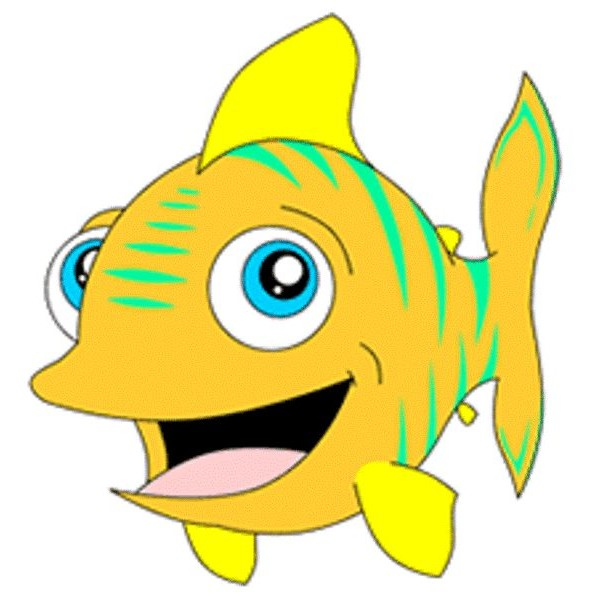 Yellow Fish Mascot