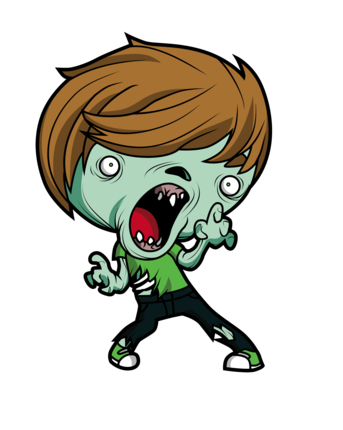 Angry Xombie Mascot