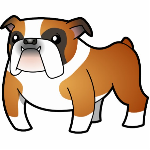Calm Bulldog Mascot