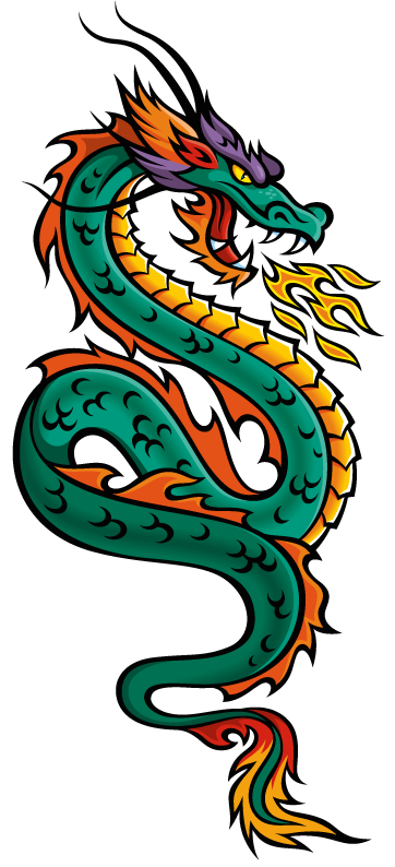 Floating Dragon Mascot