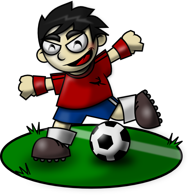 Sporty Soccer Kid Mascot