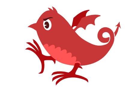 Red Devil Bird Mascot