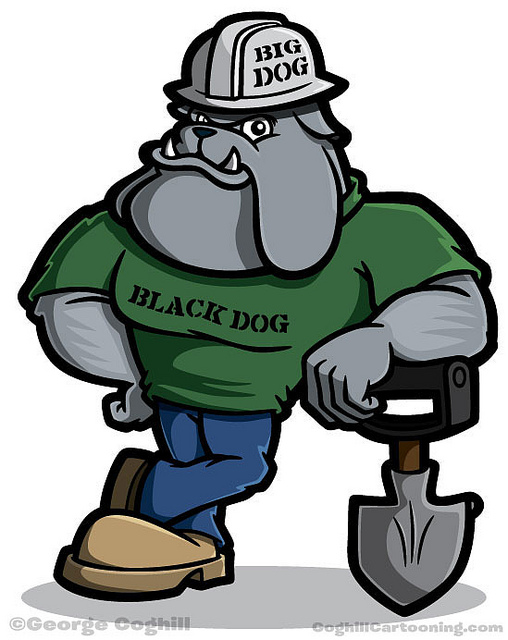 Construction Dog Mascot
