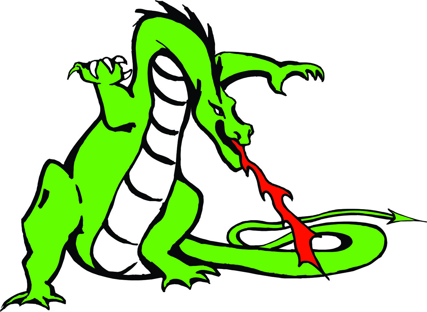Fire Breathing Green Dragon Mascot