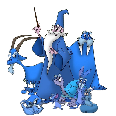 Great Blue Wizard Mascot