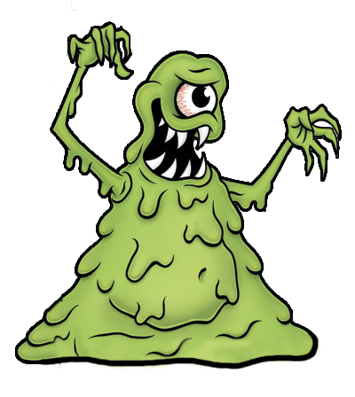 Green Slimy Monster Mascot